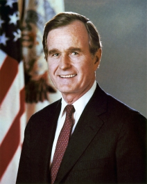 George H.W. Bush presidential portrait